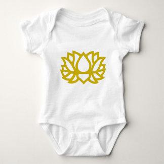 Lotus flower baby bodysuit
