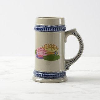 Lotus flower beer stein