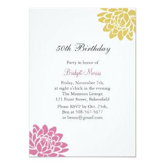 Lotus Flower Birthday Invitation