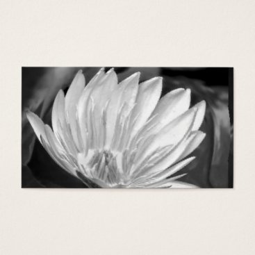 Professional Business Lotus Flower Black White Business Cards