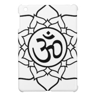 Lotus Flower, Black with White Background Case For The iPad Mini