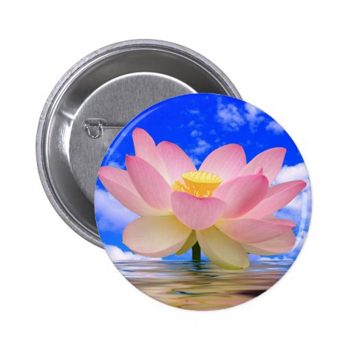 Lotus Flower Born in Water Buttons