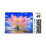 Lotus Flower Born in Water Postage Stamp