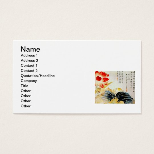 Lotus Flower Breaking the Surface Business Card