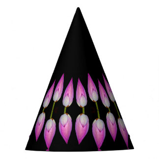 lotus flower bud party hat