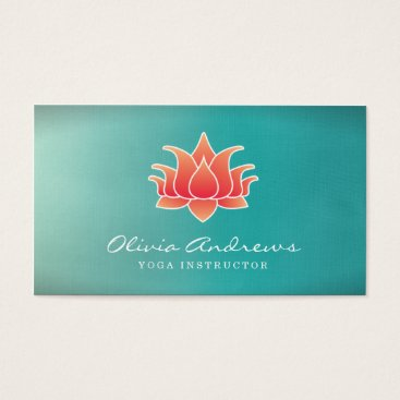 Beach Themed Lotus Flower Business Card