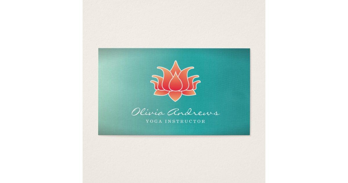 Lotus Flower Business Card | Zazzle.com