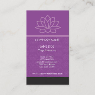 Lotus Flower Business Card Template