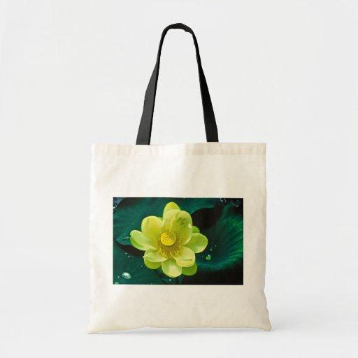 Lotus Flower Canvas Bag