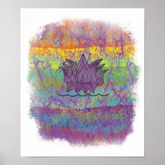 Lotus Flower Chakra Colors Spiritual Symbolic Art Poster Zazzlecom