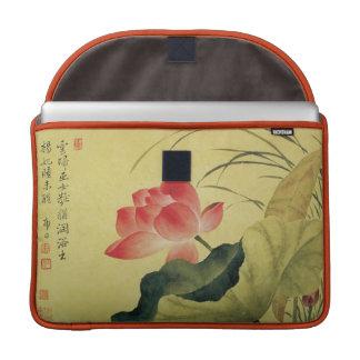 Lotus Flower Chinese Fine Art Sleeve For MacBooks