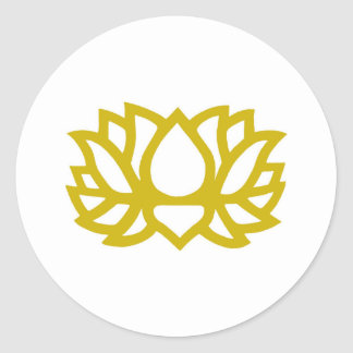 Lotus flower classic round sticker