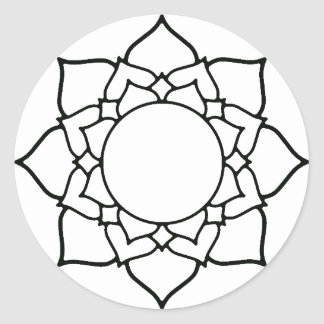 lotus flower coloring project stickers