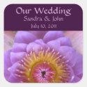 Lotus Flower Custom Wedding Stickers