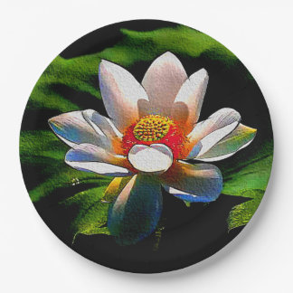 Lotus Flower design luxury paper plates