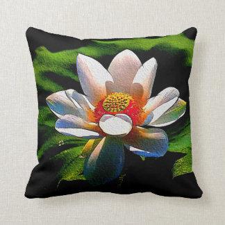 Lotus Flower design luxury throw pillow
