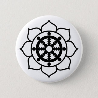 Lotus Flower Dharma Wheel Button