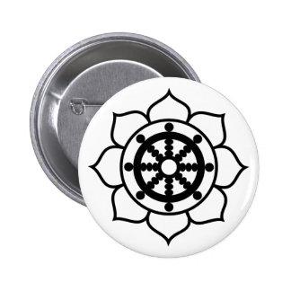 Lotus Flower Dharma Wheel Button