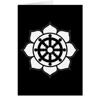 Lotus Flower Dharma Wheel Card