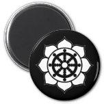 Lotus Flower Dharma Wheel Fridge Magnet