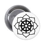 Lotus Flower Dharma Wheel Pins