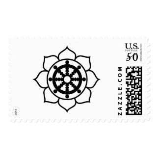 Lotus Flower Dharma Wheel Postage