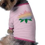 lotus  flower dog outfit dog tshirt