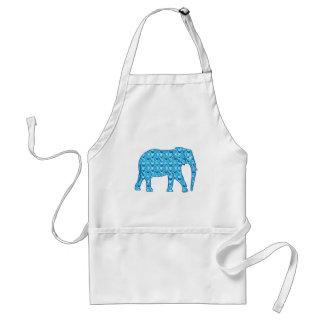 Lotus flower elephant - turquoise adult apron