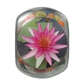 Lotus Flower Glass Candy Jars