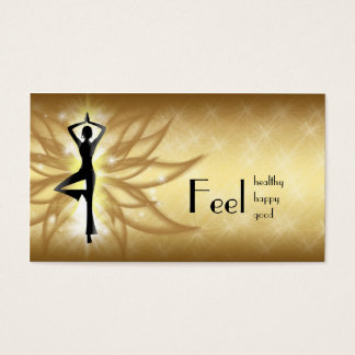 Lotus Flower Healthy Life Gold Gradient Card