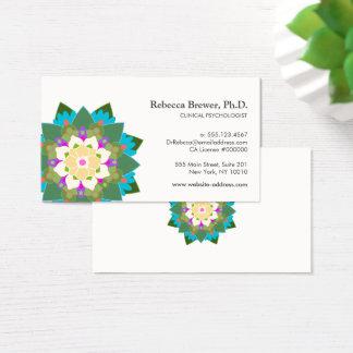 Lotus Flower Holistic Mental Health Healer Business Card