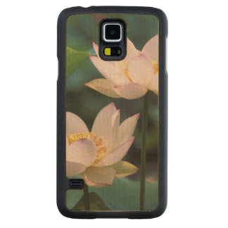 Lotus flower in blossom, China Carved® Maple Galaxy S5 Slim Case