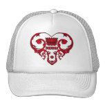 Lotus Flower in Heart Trucker Hat