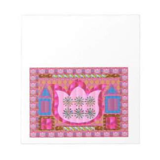 LOTUS Flower : Intuitive Art - Pearls, Jewels Notepad