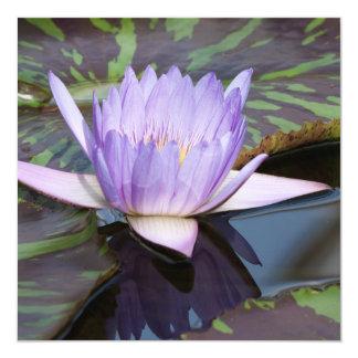 Lotus Flower 5.25x5.25 Square Paper Invitation Card