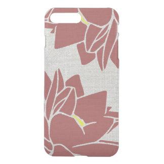 Lotus Flower linen look red iPhone 7 Plus Case