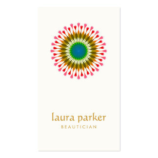 Lotus Flower Logo Healing Therapy Yoga Holistic Double-Sided Standard Business Cards (Pack Of 100)