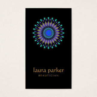 Lotus Flower Logo Healing Therapy Yoga Holistic Business Card