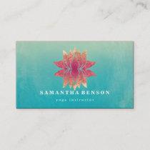 Lotus Flower Logo Yoga Business Card