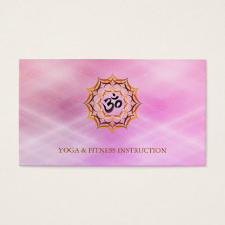 Lotus Flower Logo Yoga Elegant Modern Watercolor Business Card
