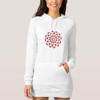 Lotus Flower Long Hoodie Dress Playeras
