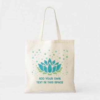 Lotus Flower Meditation Yoga Zen | Text Template Tote Bag