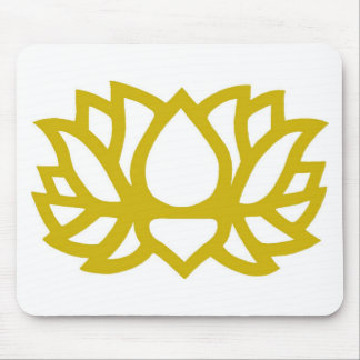 Lotus flower mouse pad