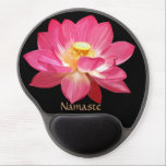 "Lotus Flower Namaste Gel Mousepad<br><div class=""desc"">By Demolitionman for Moon Art and Designs. Customize to fit your needs.</div>"