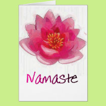 "Lotus Flower ""Namaste"" Yoga Gifts Card"