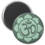 lotus flower ohm 2 inch round magnet