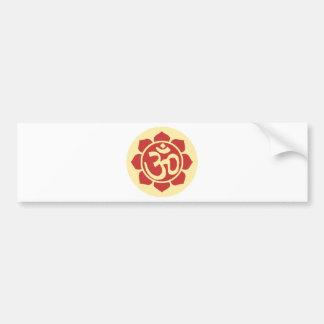 lotus flower ohm car bumper sticker