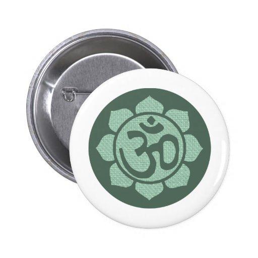 lotus flower ohm pinback button