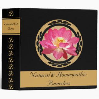 """Lotus Flower Om Essential Oils Signature 2"""" Binder"""