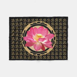 "Lotus Flower Om Fleece Blanket 30""x40"""
